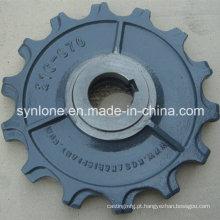Peças da placa da carcaça da areia do ferro do OEM com fazer à máquina do CNC
