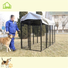 Outside metal square tube dog kennel with waterproof cover