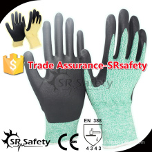 13 gauge Cut level 5 coated water-based PU gloves safety working gloves