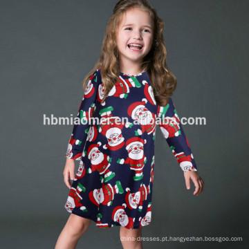 Conjuntos de roupas para a família O vestido de pescoço Desgaste de Natal Flor na moda Impresso Roupas para pais e crianças