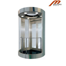 High Quality Panoramic Elevator with Hairless Stainless Steel