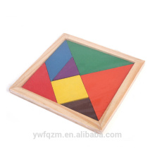 FQ brand new product kinder pädagogisches spielzeug Farbige holz tangram puzzle