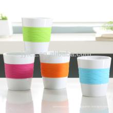 sedex auditoría de fábrica taza de cerámica manga de silicona