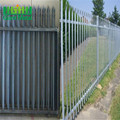 PVC coated colorful star picket steel palisade fencing