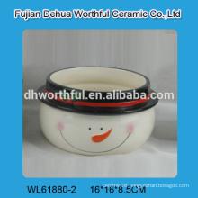 Attractive snowman design ceramic bowl in superior quality