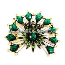 2014 Fashion Flower Design Green Acrylic Brooch BR01