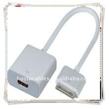 30P a HDMI con Audio para iPad 2 iPod iTouch iPhone 4G