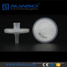 0.45um hplc corning seringa filtro filtros de roda de nylon para injeção