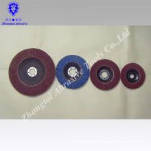 "4"",4.5"" Calcined polishing aluminum oxide flap disc"