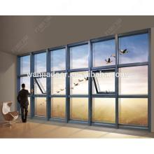 janelas de vidro fixo / grandes janelas de vidro / alumínio janela fixa / guangzhou