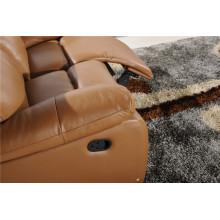 Sofá de salón con sofá moderno de cuero genuino (789)