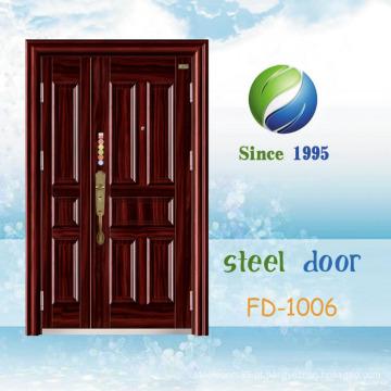 China mais recente desenvolver e projetar porta de segurança de aço único (FD-1006)