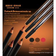 Crayons de conception de maquillage permanents imperméables pour les lèvres / sourcils