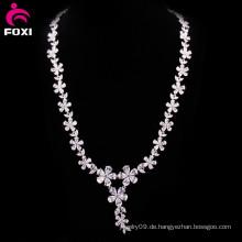 Heiße Art und Weise Blumen-Entwurfs-Zircon-Frauen-Halskette
