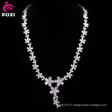 Hot Fashion Flower Design Zircon Femmes Collier