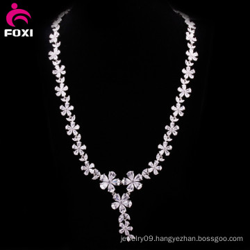Hot Fashion Flower Design Zircon Women Necklace