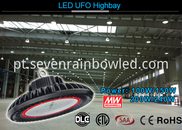 240W Luminaires UFO Led High Bay Light