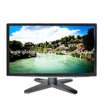 18.5-inch LED Monitor with Speaker Optional, Texture Backside in Arc Shape and VESA Available