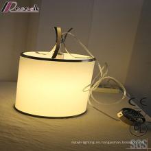 Lámpara colgante poligonal del comedor del metal redondo blanco de la moda
