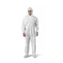 combinaison non tissée vêtements combinaison de protection à usage médical / combinaison de protection complète du corps avec capuche et botte