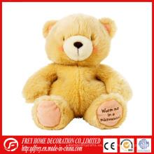 Cama calentador calentado peluche de juguete de oso