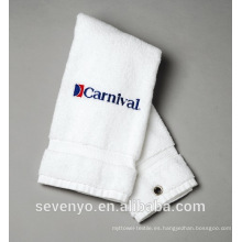 Toalla de golf blanca 100% algodón GYM toalla de deporte logotipo personalizado ST-014