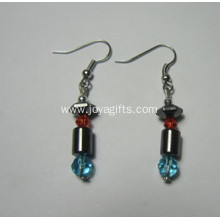 Fashion Jewelry Hematite Pepper Earring With Silver Color Fading