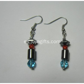 Joyería de moda Hematite Pepper Earring With Silver Color Fading