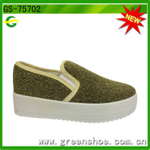 Großhandelsneues Entwurfs-kühle Art-Frauen-hohe Plattform-Segeltuch-Schuhe