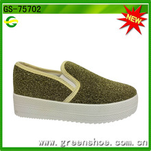 Wholesale New Design Cool Style Women High Platform Canvas Shoes