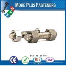 Made In Taiwan B7 Stud Bolt and Nut for Pressure Temperature Piping