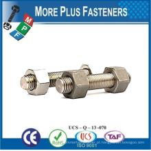 Feito em Taiwan B7 Parafuso e porca para tubulação de temperatura de pressão