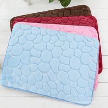 tapis de bain shaggy anti-dérapant lavable 3d shaggy