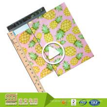 Selbstklebende kundenspezifische 10X13 Großhandelsananas / Ananas-Designer-dekorative Polymailer, die Umschläge versenden
