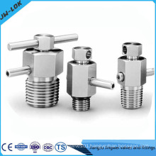 Stainless steel high pressure bleed and purge valve