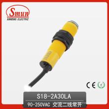 Interruptor fotoeléctrico infrarrojo difuso Tipo de reflexión Cable de dos hilos AC 30cm Sensor