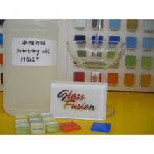 Baumaterial Glasmosaik Stempelkissen Tinte mit weißem Pulver