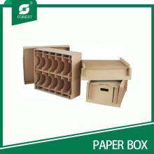 Acceptez l'emballage en carton brun personnalisé avec les diviseurs