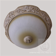 New Design Resin Ceiling Light with Glass Shade (SL92677-3)