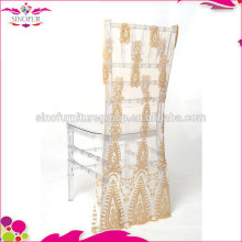 sinofur elegant wedding sequin chair cover wholesale