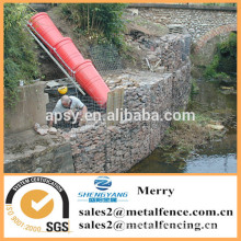 1.5mX0.5mX0.5m Galfan galvanized Zn curved stone gabion basket wall for protecting against river erosion