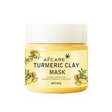 OEM/ODM Yellow Organic Bentonite Clay Facial Mask Skin Care Turmeric Face Mask