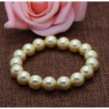 Round Multicolor Shell Pearl Stretchy Bracelet