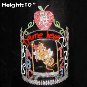 Back to School Pageant Crowns With Bees Apple Shaped