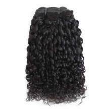 100% Human Hair Extension Unprocessed Double Drawn Brazilian Virgin Human Hair Weft Extension Curly Pixie Curl