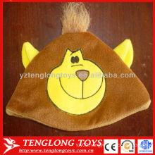 New design hot sale kids lovely monkey plush winter hat