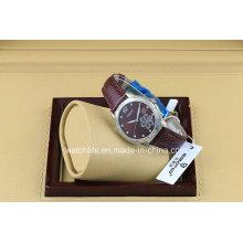 Blumen-Druck mit Diamant-Art- und Weisequarz-Damen-Armbanduhr