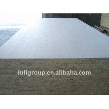 Panneau de bloc double face en mélamine blanc chaud avec noyau de Falcata