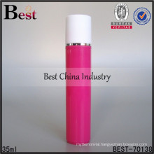 35ml plastic lovely pink bottle perfume, with stainless ball lovely pink bottle perfume