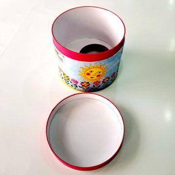custom beautiful carton design paper Round  box